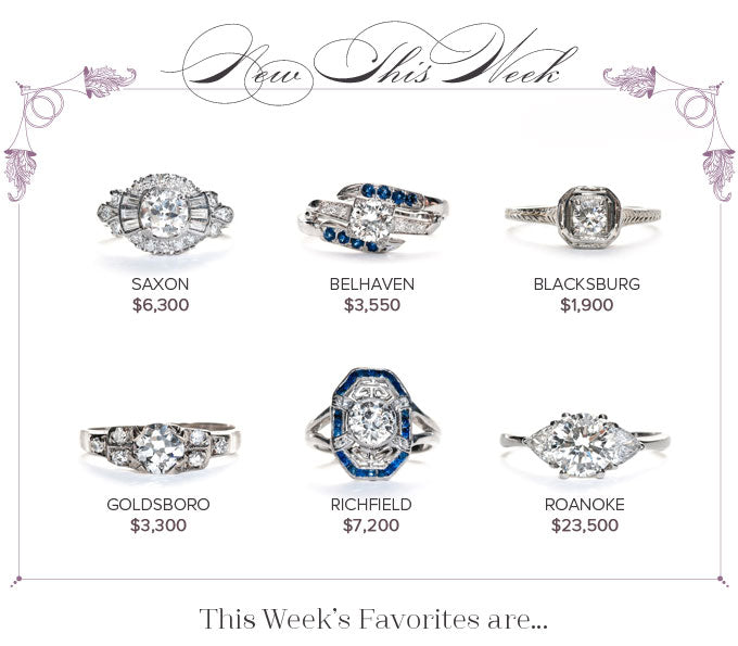 New Vintage Engagement Rings