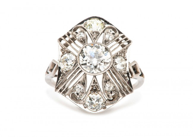 vintage edwardian art deco engagement ring
