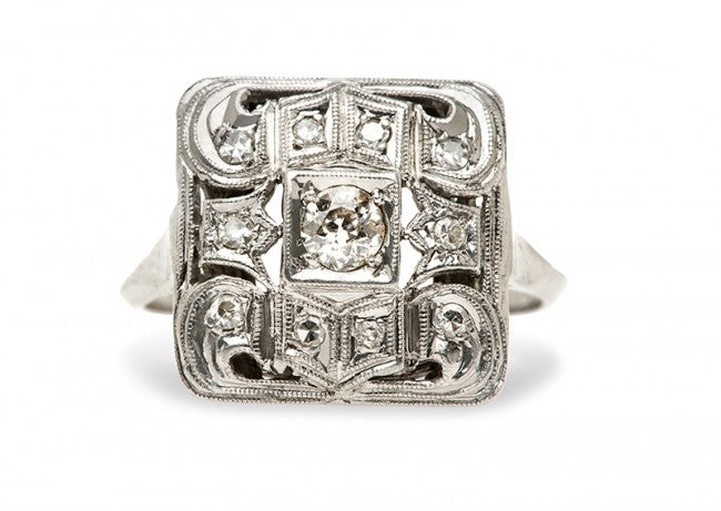 vintage art deco cocktail ring