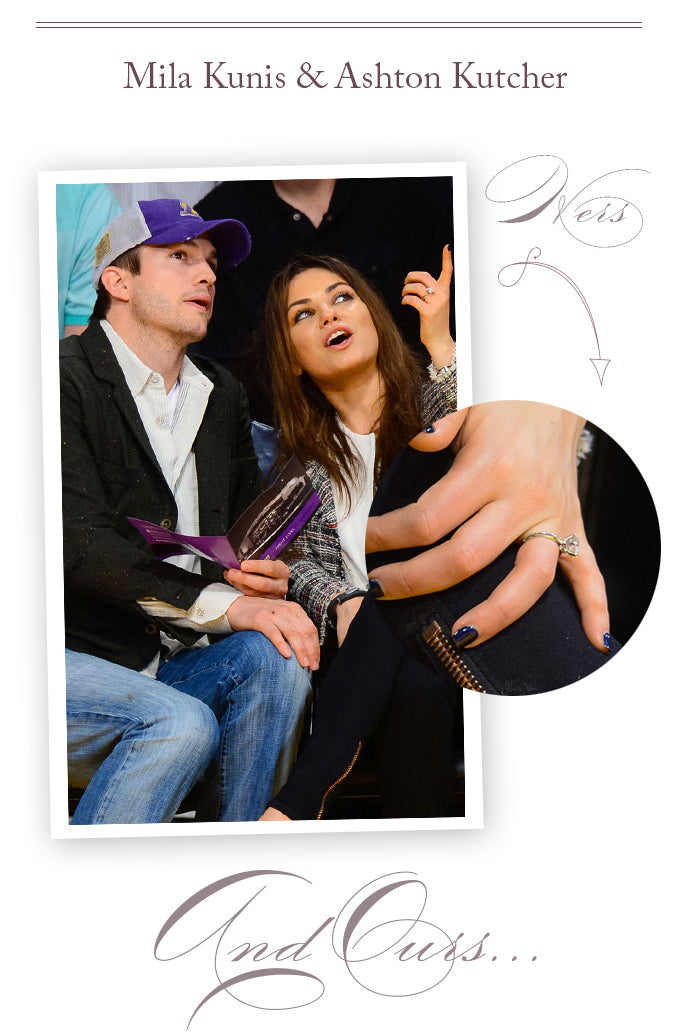 mila kunis ashton kutcher engagement