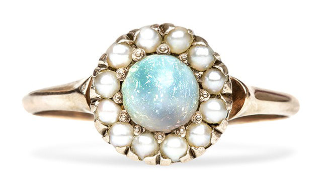 vintage opal and pearl ring