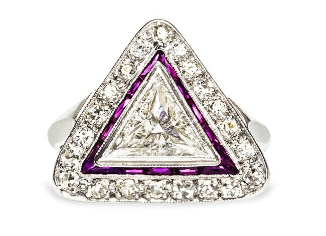 triangular engagement ring