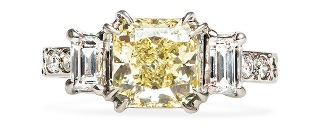 vintage yellow diamond engagement ring