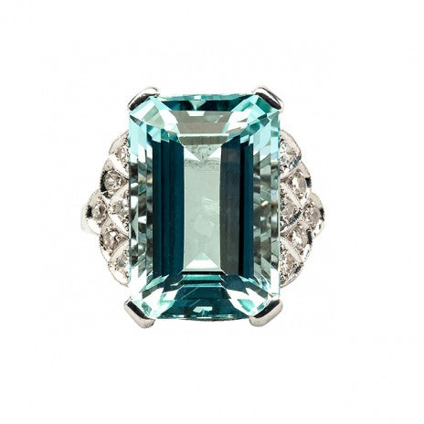 vintage aquamarine diamond cocktail ring valleyfalls