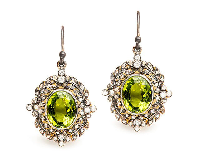 vintage peridot earrings
