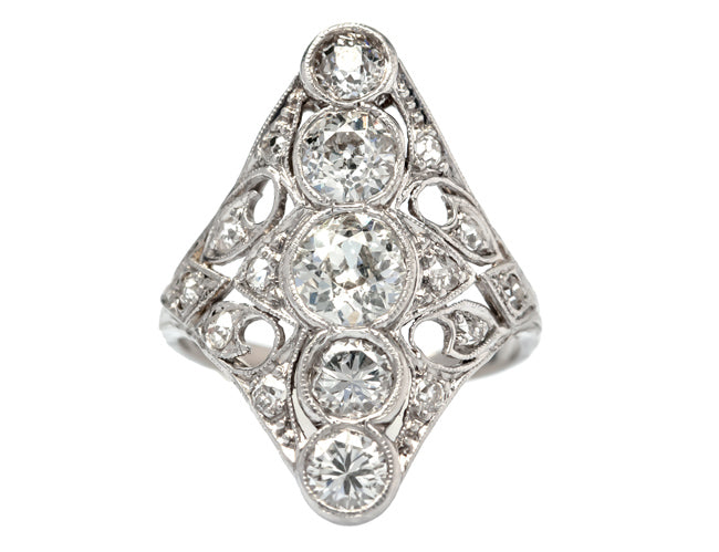 vintage edwardian diamond ring