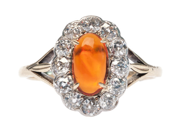 vintage fire opal ring