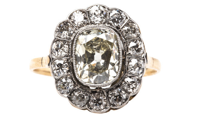 Yellow Gold Victorian Engagement Ring with Old European Cut Diamond | Radcliffe from Trumpet & Horn