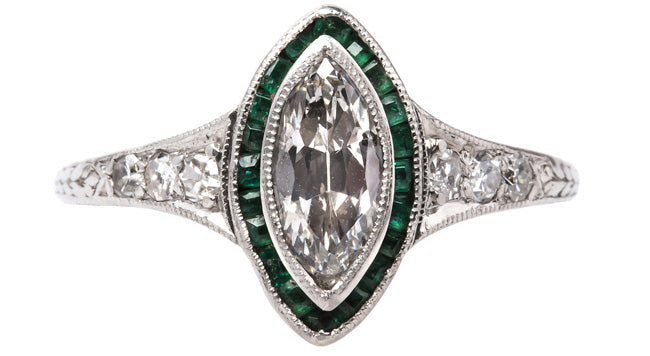 vintage-art-deco-marquise-diamond-emerald-engagement-ring-avery