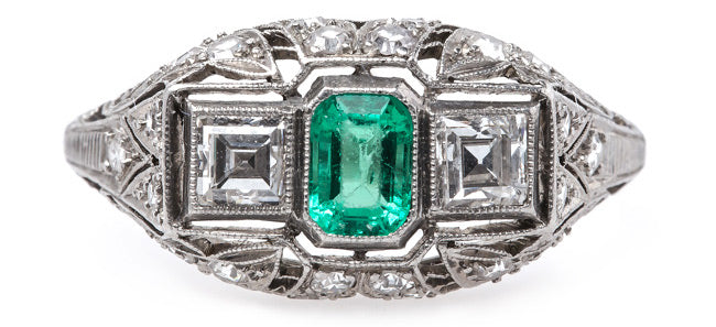 vintage-engagement-ring-edwardian-emerald-square-cut-diamonds-northbridge