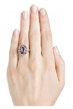 a amethyst engagement ring