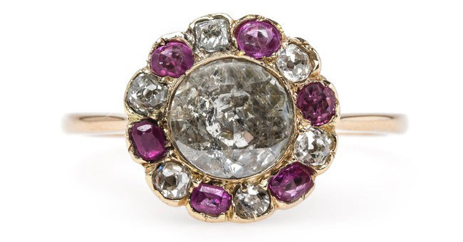 One-of-a-Kind Victorian Era Floral Engagement Ring   Central Park