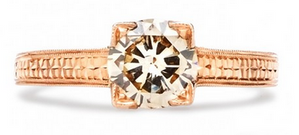 vintage-style engagement rings