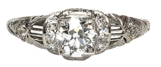 Hawk Springs Edwardian Unique Diamond Engagement Ring | Hawk Springs