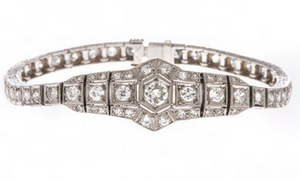 art deco belly bracelet
