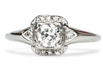 artdeco diamond rings