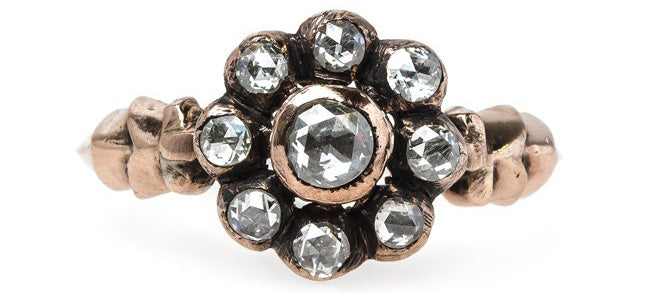 Vintage Inspired Halo Ring Reminiscent of Victorian Times | Stonebridge
