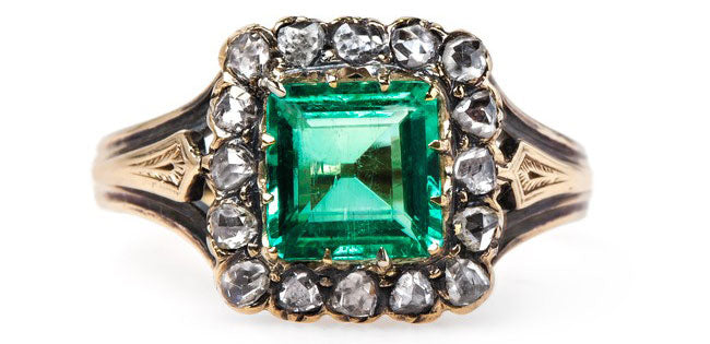 vintage-victorian-emerald-diamond-halo-greenwich
