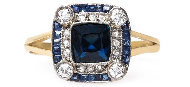 vintage-edwardian-brooch-engagement-ring-sapphire-diamond-bermuda