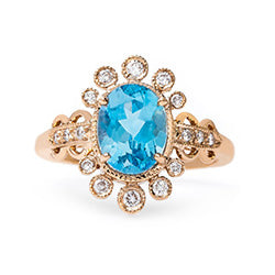 ornate aquamarine ring
