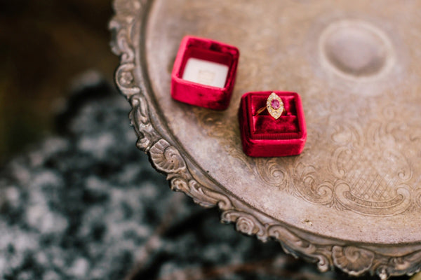 Lillywhite Photography Vintage Engagement Rings from Trumpet & Horn