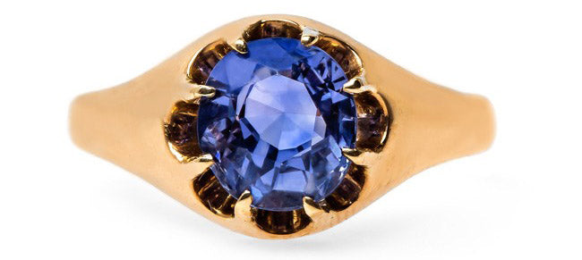 Vintage Solitaire Engagement Ring Sapphire | Bowery