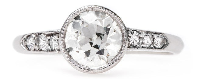 Classic Art Deco Solitaire Engagement Ring | Ashland from Trumpet & Horn