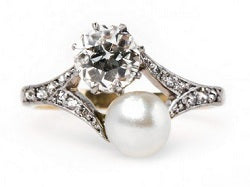 Huckleberry pearl engagement ring