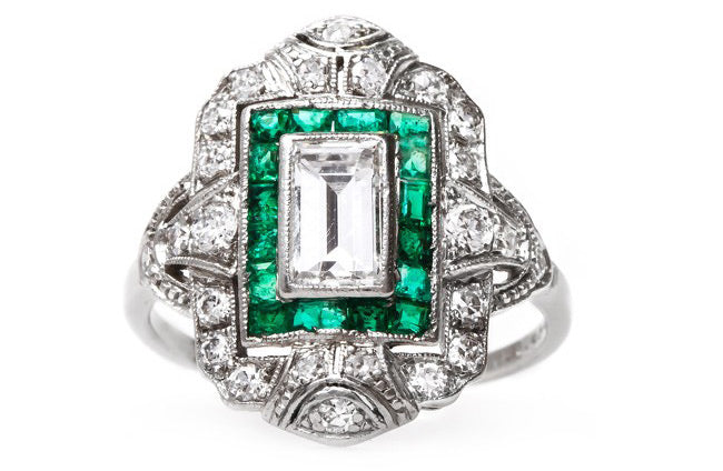 Vintage Art Deco Engagement Ring | Madison Square