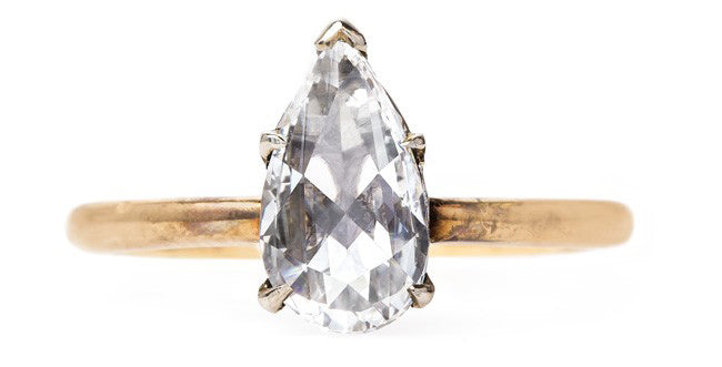 vintage-solitaire-pear-shape-diamond-rose-cut-wildstone