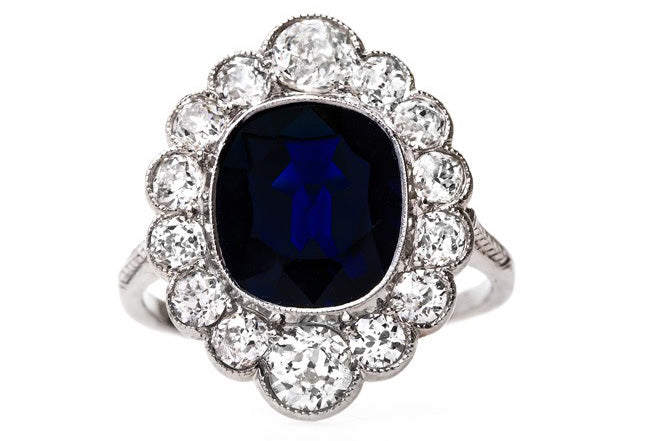Vintage Victorian Sapphire Ring | Long Grove