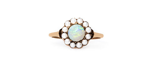 opal and pearl ring
