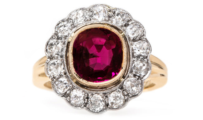 vintage-edwardian-ruby-diamond-halo-engagement-ring-eco-friendly-cardinal-falls