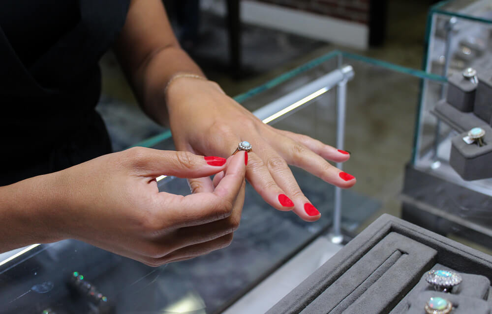 Opal Engagement Ring Shopping in Los Angeles | Trumpet & Horn
