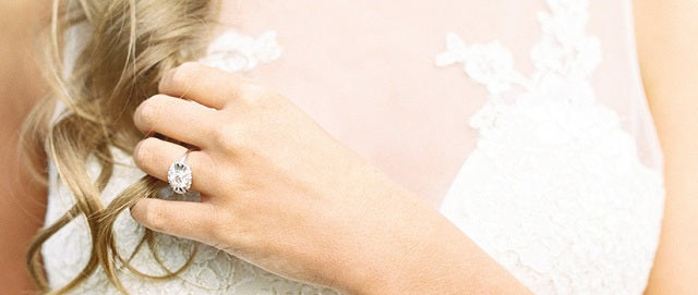 bride wearing ring