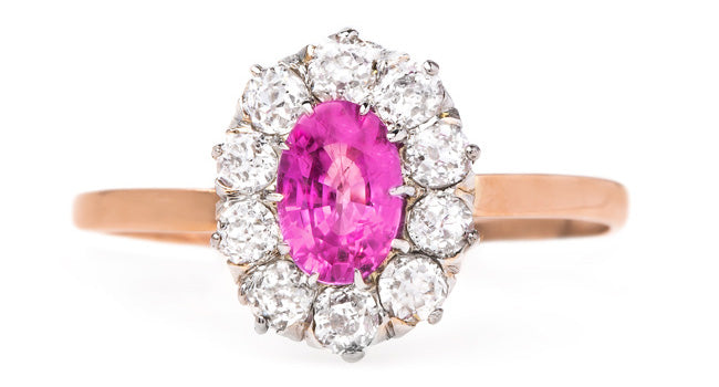 vintage-victorian-pink-sapphire-halo-engagement-ring-waveny