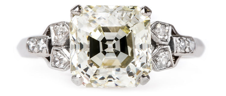 vintage-art-deco-asscher-cut-diamond-ring-woodley-park