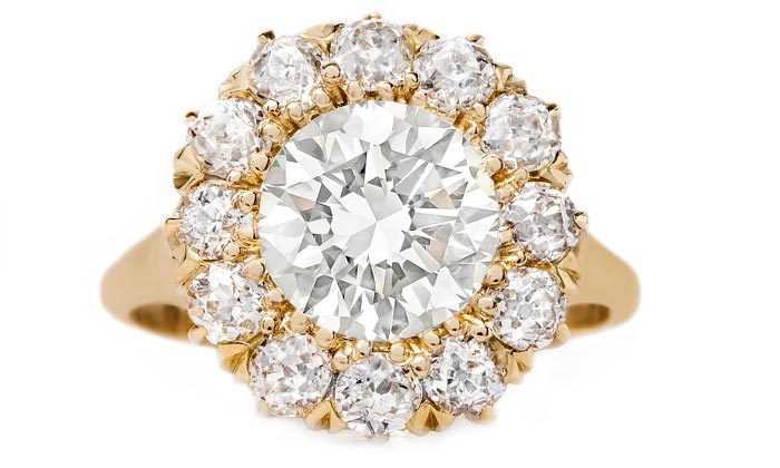 vintage-victorian-cluster-diamond-old-mine-cut-new-bond-street