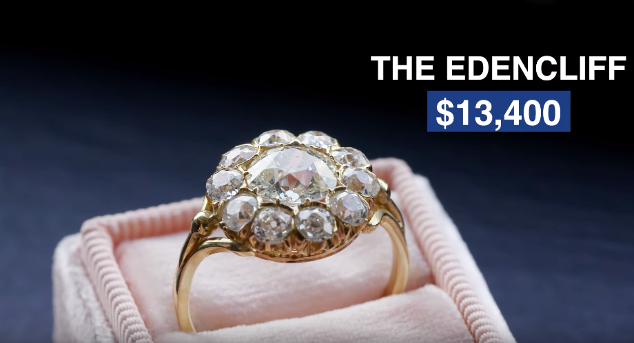 Edencliff | buzzfeed worth it features trumpet & horn vintage engagement ring