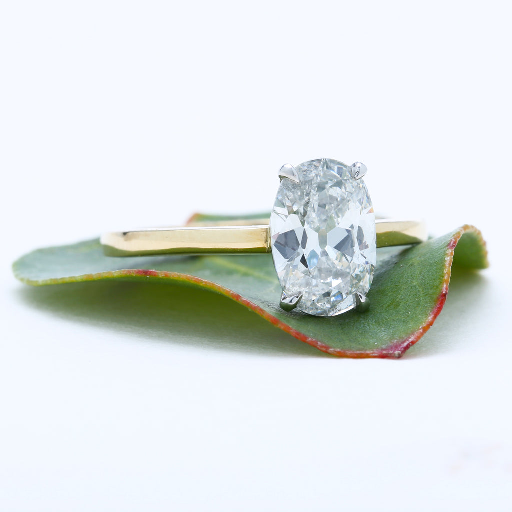 Tulum is a timeless and beautiful newly-made diamond solitaire engagement ring crafted locally in downtown Los Angeles.