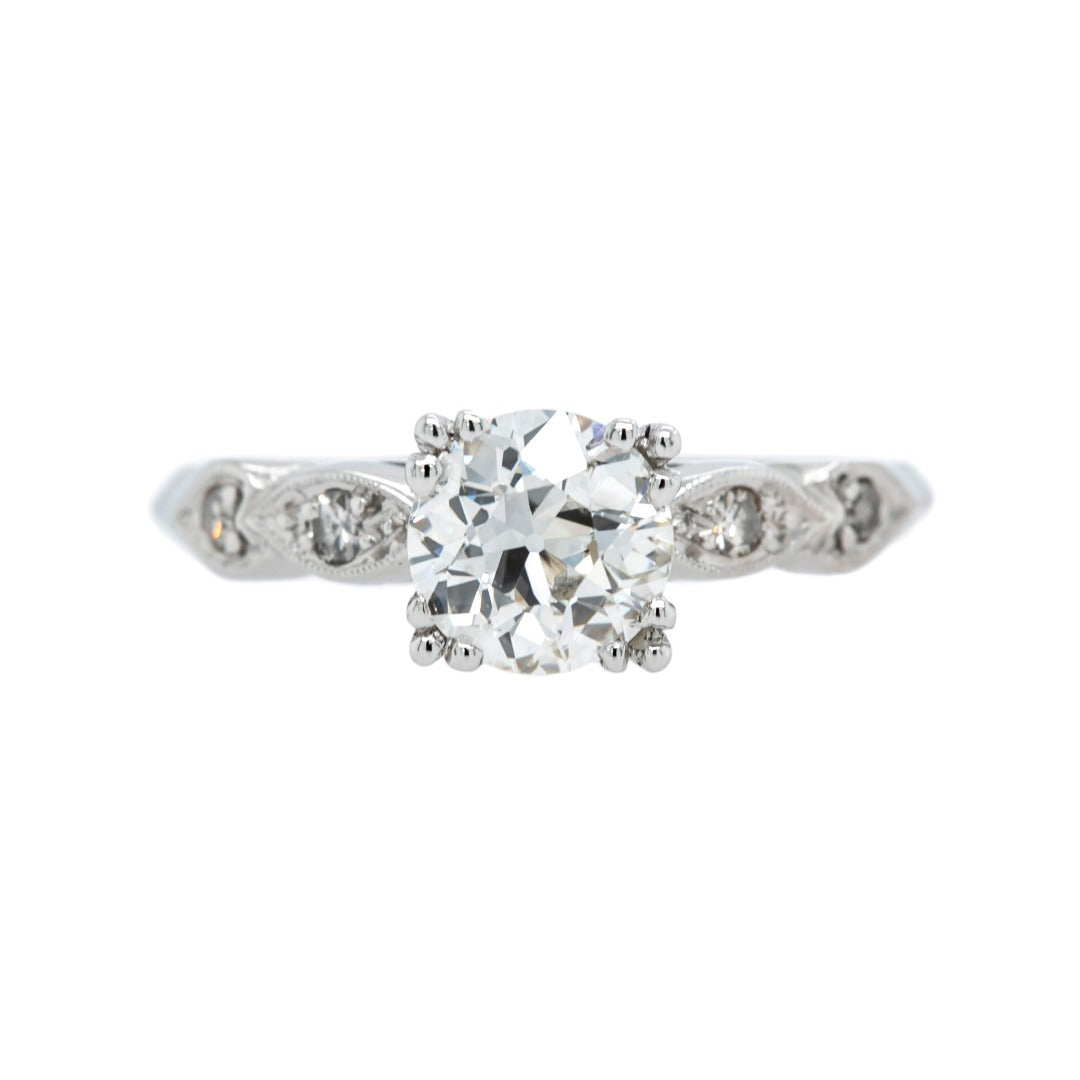 Classic Late Art Deco Diamond Engagement Ring | Cranberry Hollow