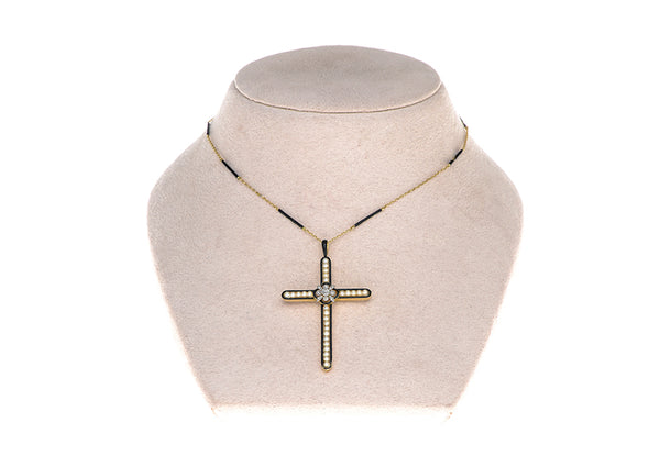 Victorian Cross Pendant & Chain