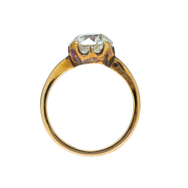 Extraordinary Victorian Solitaire with Gorgeous 2.77ct Old Euro | Aspermont