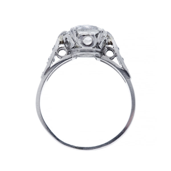 Magnificent and Authentic Edwardian Era Platinum and Diamond Engagement Ring | Brently Glen