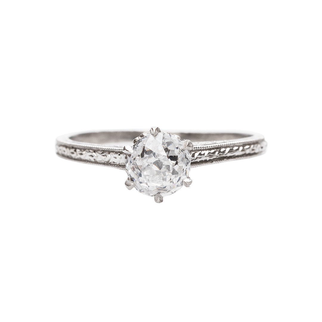 Edwardian Inspired Solitaire Engagement Ring
