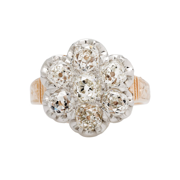 Gorgeous Victorian Era Diamond Cluster Ring | Brook Hill