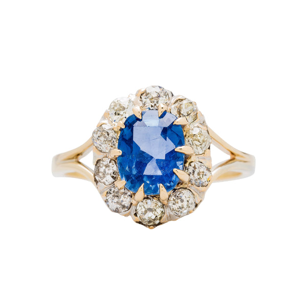 One-of-a-kind Victorian Era Sapphire and Diamond Ring | Burtonwood