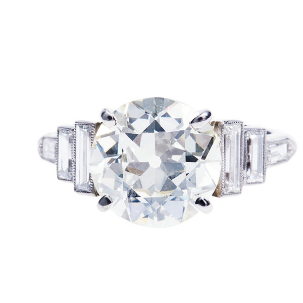 An Impressive and Authentic Art Deco Diamond Engagement Ring