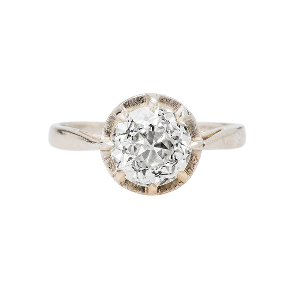 A Charming Authentic Edwardian Era Solitaire Diamond Ring