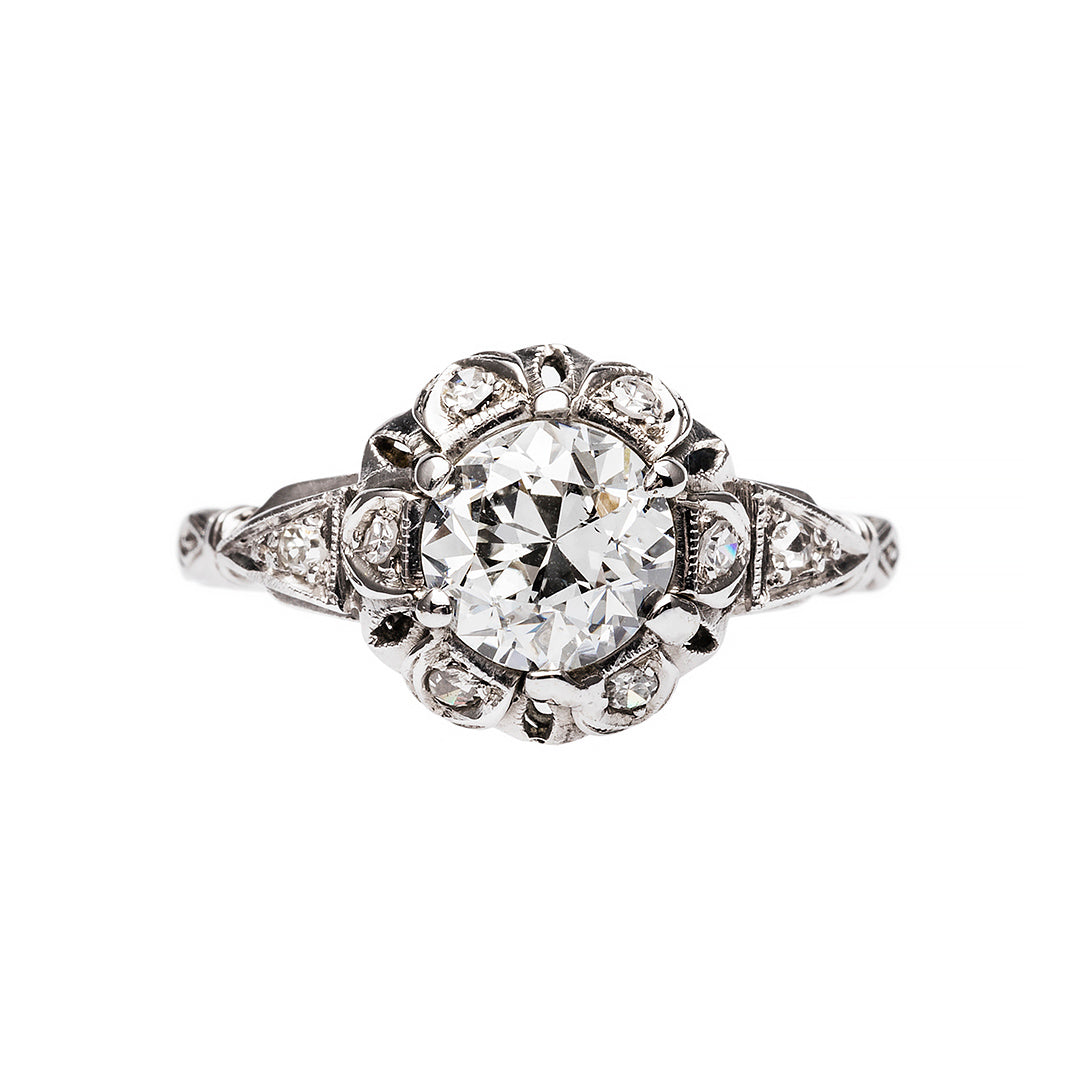 Late Art Deco Engagement Ring